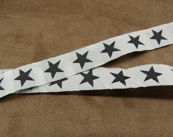 FANCY Ribbon - Star - 1.5 cm - white