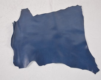 Navy lambskin leather skin