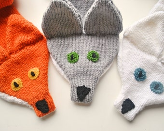 Thick & Cuddly Knitted Fox Scarf