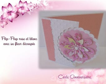 Birthday - FlipFlop - pink and purple flower