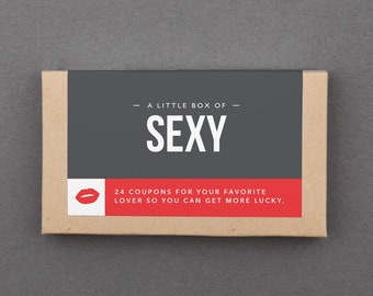 """Anniversary Gift for Him, Man, Boyfriend, Husband. Naughty, Wedding. Fun, Romance. First, Paper, Dating Anniversary. """"Sexy Coupons"""" (L2SEX)"""