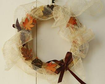 Wreath for fall home decor