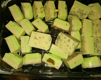 Lavender lime mini bath bars