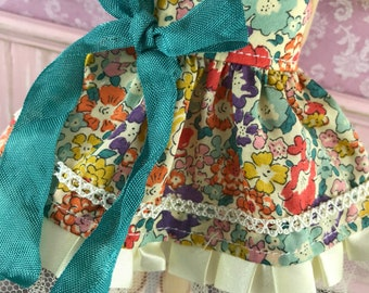 Blythe Dress - Liberty with Teal Bow