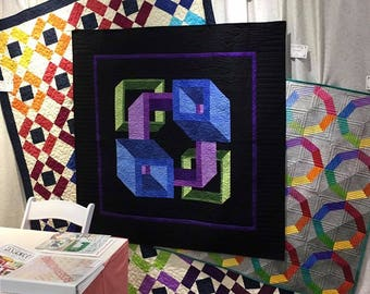 Passages, quilt pattern, Guilty quilter, throw, lap, wall