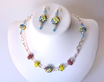 Springtime Necklace & Earring Set