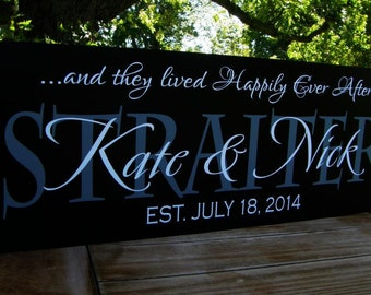 Wedding Gifts, Anniversary Gift, Personalized Family Established Sign, Wedding Decor, Family name sign, Wood sign with established date
