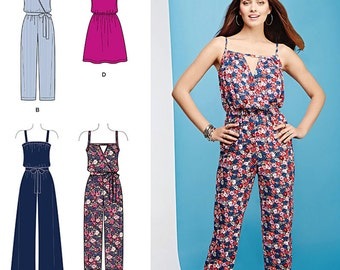 Simplicity Sewing Pattern 1114 Misses' Easy Dress and Jumpsuits