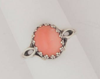 Emory Silver Studio* Pink Coral Ring*