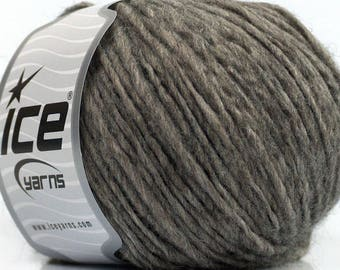 Peru Alpaca Worsted Yarn Heather Grey #48622 Ice Merino Wool Alpaca Acrylic 50g 98y