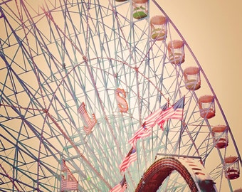 Biggest Wheel in Texas - 8x10 photograph - fine art print - carnival artwork - nursery art - unique christmas gift - holiday gift