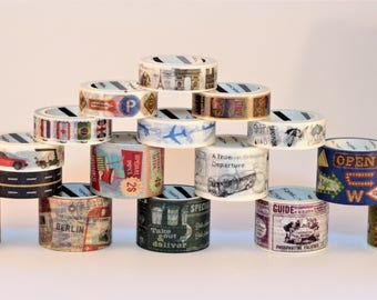 Let's Go Poster Travel Series Washi Tape / Scrapbooking / Travel Journal / Bullet Journal / Crafting