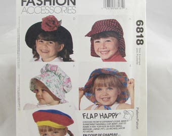 Toddler and Child's Hat McCall's 6818 - Uncut