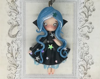Stars of the night doll necklace