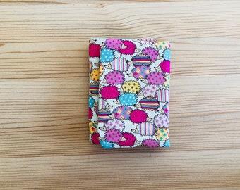 erizos, cartera rosa, cartera, monedero, billetera, tarjetero, tela erizos, cartera, monedero pequeño, verde mint, erizos colores, regalo