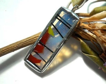 Stained Glass Confetti Pendant