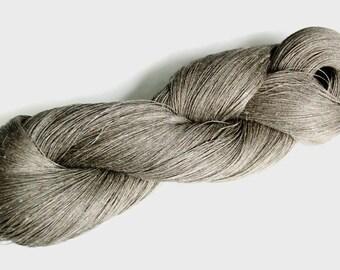 Linen yarn, pure flax yarn, natural Lithuanian flax linen yarn for any crafts, flax linen, raw linen yarn, grey linen yarn, raw linen yarn
