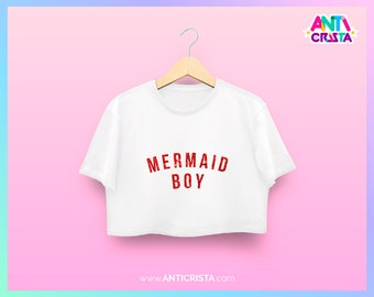 Men Crop-top Mermaid Boy