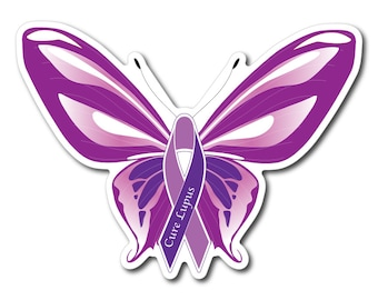 Lupus  Awareness Sticker/Decal or Magnet Set