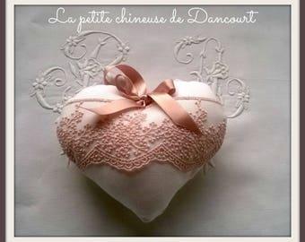 Powder Pink shabby heart