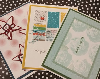 Set of 3 Just Because Cards