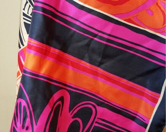 FREE  SHIPPING   Vintage  Jacques Fath  Scarf