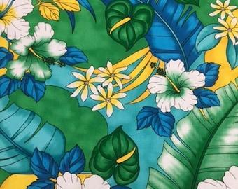 Tropical Hawaiian Print  in Cotton (Yardage Available)