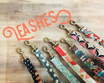 Leashes- in ANY pattern you'd like!