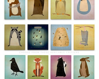 Cute Animal Nursery Art for, Kids Room Decor, Wall Art Nursery Art Boy, Woodland Nursery Art Block, Pick the Nursery Print, Prints Nursery