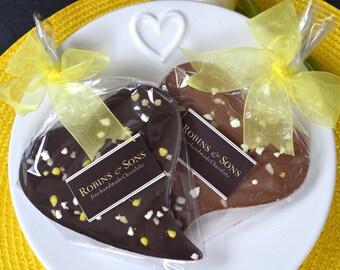 Gourmet Belgian Chocolate gift LEMON MILK CHOCOLATE heart unique chocolate bar, chocolate lovers gift
