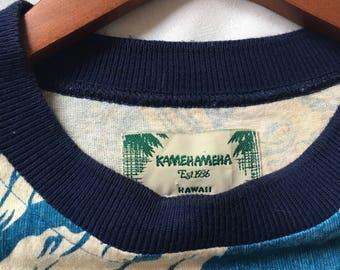 Vintage t-shirt Kamehameha hawaii/Free shipping