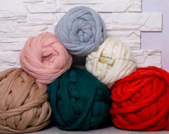 Merino Wool, Chunky yarn, Roving, Arm Knitting, Wool yarn, Super chunky yarn, Bulky yarn, Yarn, Arm Knit, Roving wool