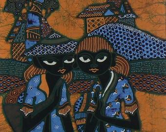 Indonesian Batik Panel, Wallhanging, Lap Quilt, Pillow Panel, Jacket Back, Quilting Supply, Art Panel, Wearable Art, Washable Batik