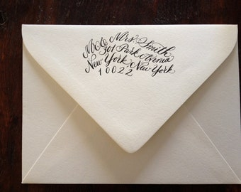 Reserved Listing: Jenny, Calligraphy Address Stamp