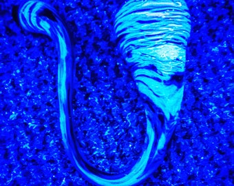 Black & Blue Black Light UV Reactive Sherlock Tobacco Pipe
