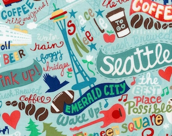 Seattle cotton fabric by Gail for Timeless Treasures C5717