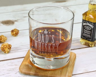 Dad's Whiskey Glass - Personalised Whiskey Glass - Dad Gift - Fathers Day Gift - Wedding Gift for Dad - Scotch Glass - Brandy Glass