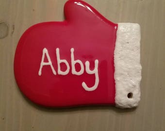 Personalized Christmas Mitten Ornament