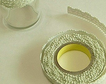 Romantic Lace Adhesive Fabric Tape - Pale Green (0.5in)