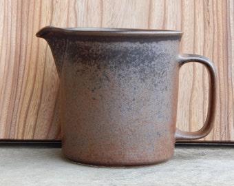 Arabia of Finland Ruska Jug Pitcher Stoneware Designed by Ulla Proscope Brown Stoneware 1970s