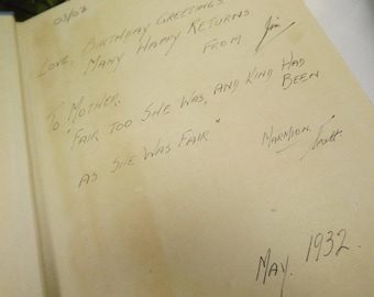 Auld Lang Syne, Scottish Book Inscription 1932
