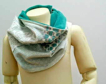 Lace Overlay Kids Cowl