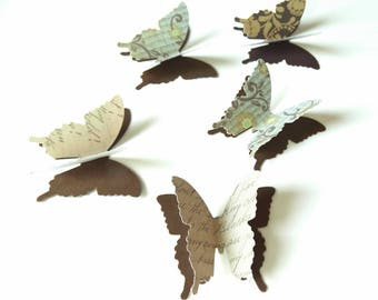 Butterfly Confetti, Fall Wedding Accent, Woodland Theme Event, Bridal Shower Decor, Anniversary Party, 3D Paper Butterflies, Fairy Party