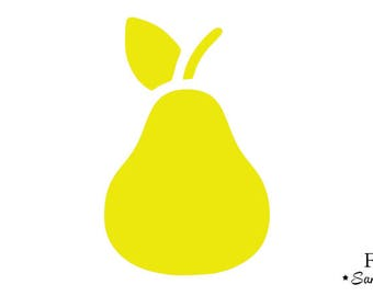 PEAR yellow flex fusible applique