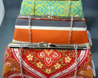 Orange, Red, Green Clutch for All Occasions