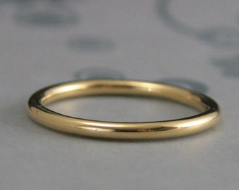 2mm Full Round Band~Solid Gold Band~Solid Gold Ring~14K Gold Ring~Roll Me Round~Comfort Fit 2mm Band~Women's Wedding Band~Recycled Gold Ring