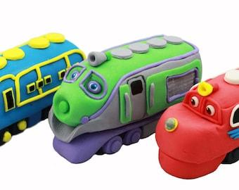 Chuggington Train fondant cake topper. Any character of