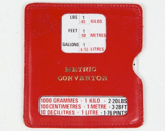 Metric Converter - Red leather case - Accessory