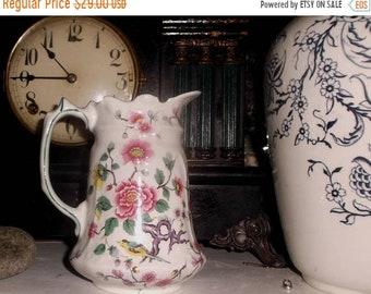 """SALE Old Foley Chinese Rose pitcher by James Kent  England~5 1/2"""" tall"""