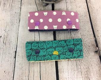 """Set of (2) 4"""" DPN Needle Cozies, Sock Knitting, DPN case, DPN holder, Knitting needle case"""